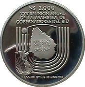 2000 Nuevos Pesos (Silver coinage and BID Meeting) -  reverse