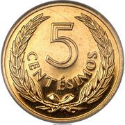 5 Centesimos (Pattern) – reverse