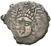Unknown Æ - Chardmish (Bust facing left; tamgha with double hook) – obverse