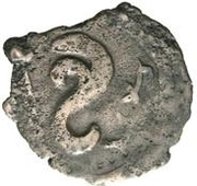 Unknown Æ - Chardmish (Ustrushana; bust facing left; double hook) – reverse