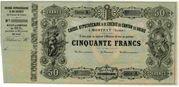 50 Francs (Caisse Hypothécaire et de Crédit du Canton du Valais) – obverse