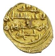 Fractional Dinar - 'Abd al-'Aziz al-Mansur - 1021-1061 AD (Amirid dynasty - 1021-1086) – reverse