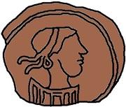 1 Nummus - Godas (Without legend) – obverse