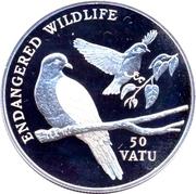 50 Vatu (Earth Pigeons) – reverse