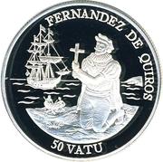 50 Vatu (Pedro Fernandez de Quiros) – reverse
