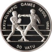 50 Vatu (XXIV Summer Olympics) – reverse