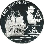 50 Vatu (The Boudeuse) – reverse