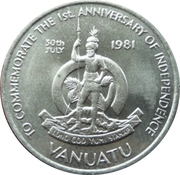 50 Vatu (Independence) – obverse