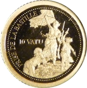 10 Vatu (Bastille Day) – reverse