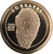 20 Vatu (Socrates) – reverse