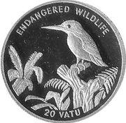 20 Vatu (Kingfisher) – reverse