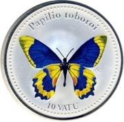 10 Vatu (Papilio toboroi) – reverse
