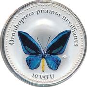 10 Vatu (Ornithoptera Priamus Urvillianus) – reverse