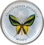 10 Vatu (Ornithoptera Paradisea) – reverse