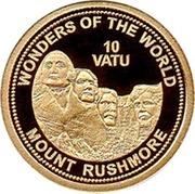 10 Vatu (Mount Rushmore) – reverse