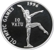 10 Vatu (Olympic Games-Gymnast) – reverse