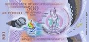 500 Vatu – obverse