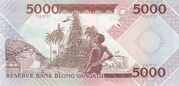 5 000 Vatu – reverse