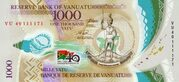 1,000 Vatu - 40 Years of Independence – obverse