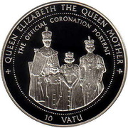 10 Vatu (Queen Elizabeth the Queen Mother) – reverse
