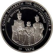 10 Vatu (Queen Elizabeth the Queen Mother) – reverse