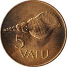 5 Vatu – reverse