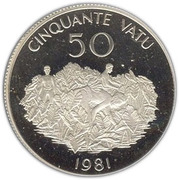 50 Vatu (Indépendance) – reverse