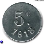 5 Centimes – reverse
