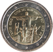 2 Euro - Franciscus (28th World Youth Day) -  obverse