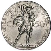 50 Centesimi - Pivs XI – reverse