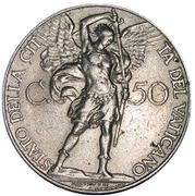 50 Centesimi - Pivs XI (Jubilee) – reverse