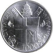 1000 Lire - Ioannes Pavlvs II -  reverse