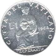 1 Lira - Pavlvs VI – reverse