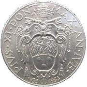 2 Lire - Pivs XI (Jubilee) – obverse