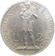 2 Lire - Pivs XI (Jubilee) – reverse