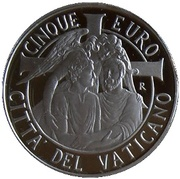 5 Euro - Franciscus (XLVII World Day of Peace) -  obverse