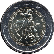 2 Euro - Franciscus (Jubilee of Mercy) -  obverse