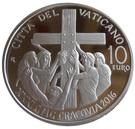 10 Euro - Franciscus (World Youth Day - Krakow) – reverse