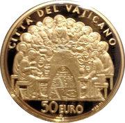 50 Euro - Benedictus XVI (The Sacraments of Christian Initiation - The Eucharist) -  reverse