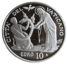 10 Euro - Franciscus (25th World Day of the Sick) – reverse