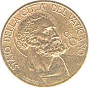 10 Centesimi - Pivs XII – reverse