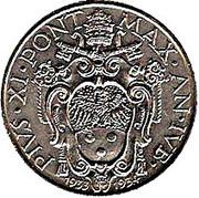 1 Lira - Pivs XI (Jubilee) – obverse