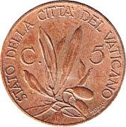5 Centesimi - Pivs XI (Jubilee) – reverse