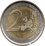 2 Euro - Benedictus XVI (1st map) -  reverse
