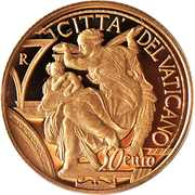 50 Euro - Franciscus (450th Anniversary of the Death of Michelangelo) -  reverse