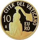10 Euro - Franciscus (Baptism) – reverse