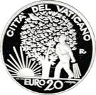 20 Euro - Franciscus – reverse