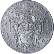 50 Centesimi - Pivs XI (Jubilee) – obverse