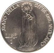 1 Lira - Pivs XII – reverse