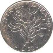 50 Lire - Pavlvs VI (Olive) -  reverse